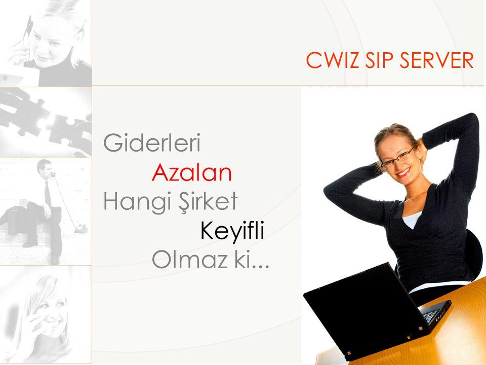 CWIZ SIP SERVER Giderleri Azalan Hangi Şirket Keyifli Olmaz ki...