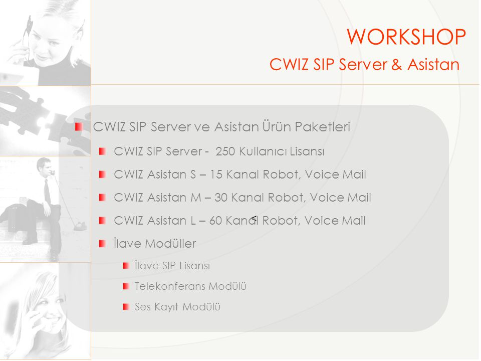 WORKSHOP CWIZ SIP Server & Asistan