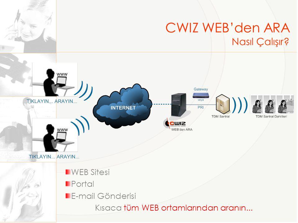 CWIZ WEB'den ARA Nasıl Çalışır WEB Sitesi Portal E-mail Gönderisi