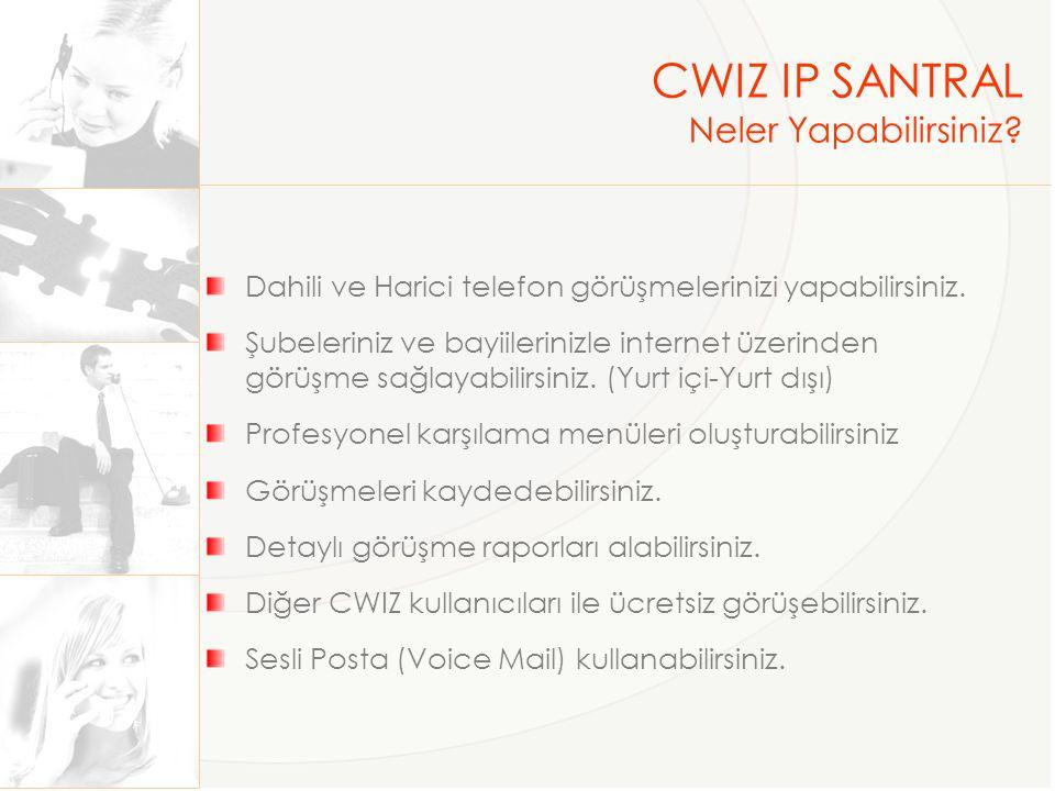 CWIZ IP SANTRAL Neler Yapabilirsiniz