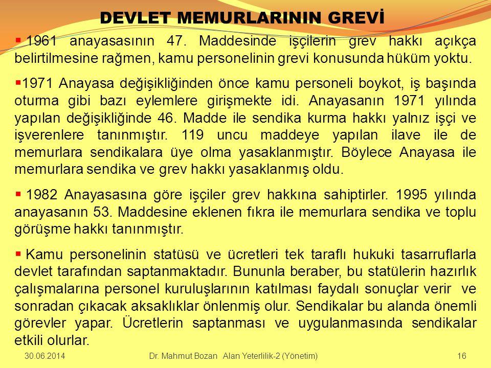 DEVLET MEMURLARININ GREVİ