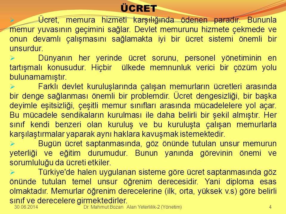 ÜCRET