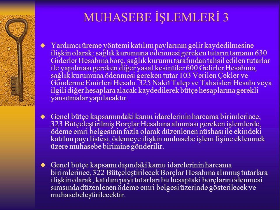 MUHASEBE İŞLEMLERİ 3