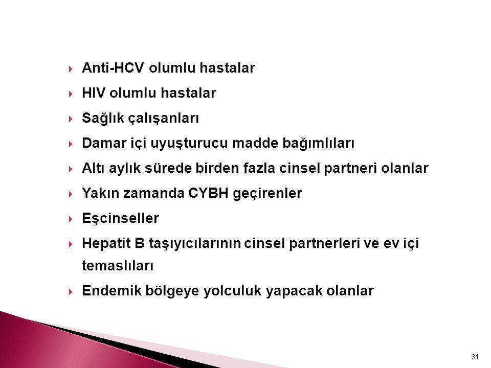Anti-HCV olumlu hastalar