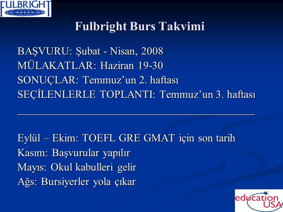 Fulbright Burs Takvimi