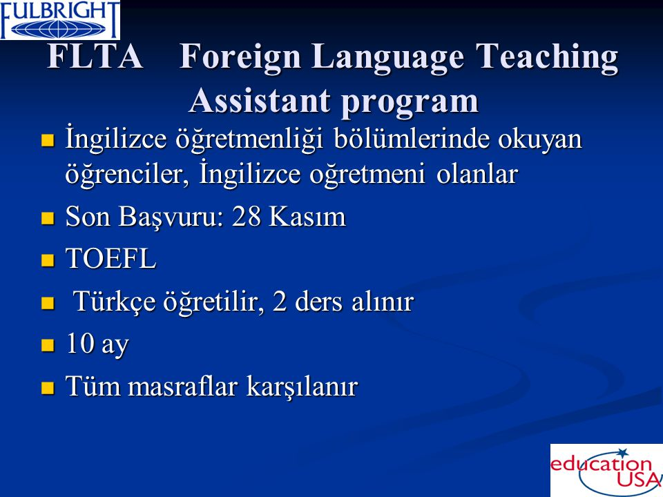 FLTA Foreign Language Teaching Assistant program
