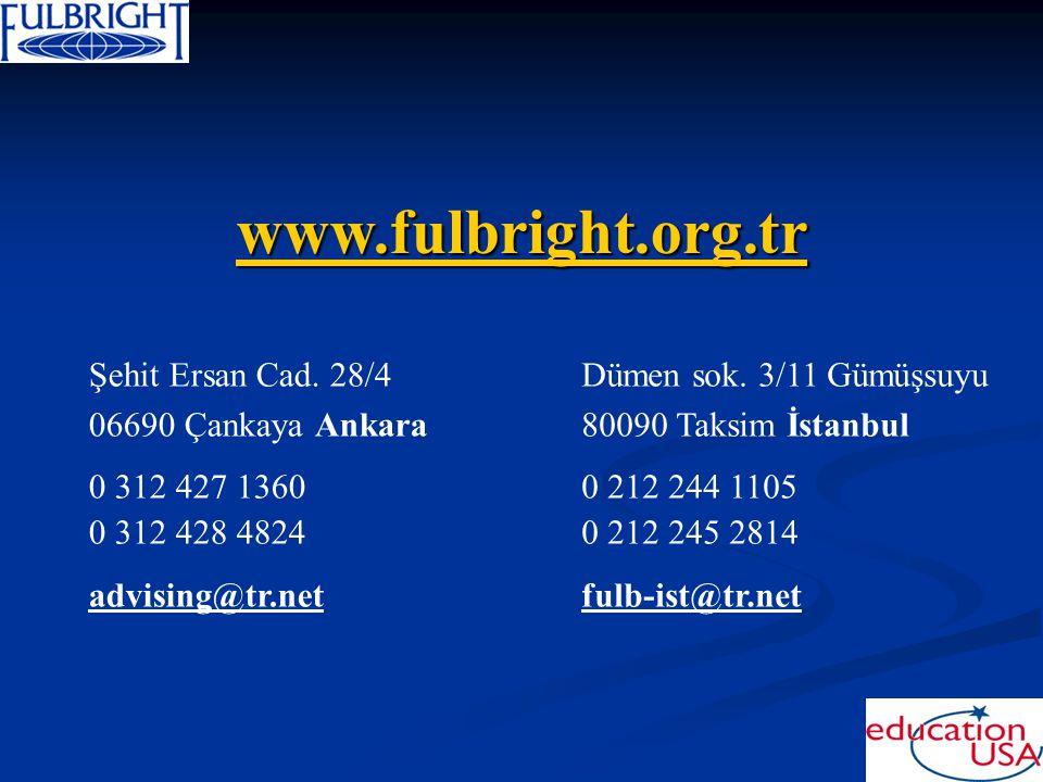 www.fulbright.org.tr Şehit Ersan Cad. 28/4 06690 Çankaya Ankara