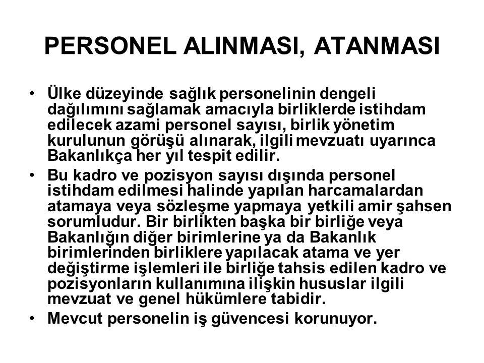 PERSONEL ALINMASI, ATANMASI