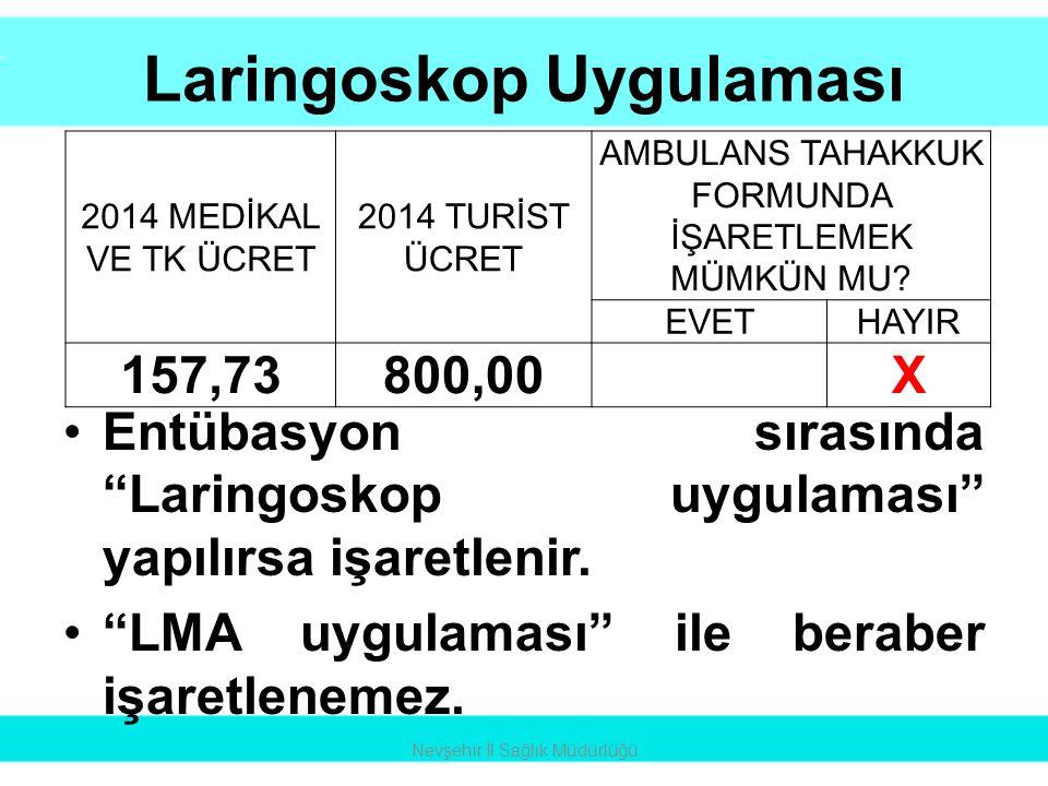 Laringoskop Uygulaması