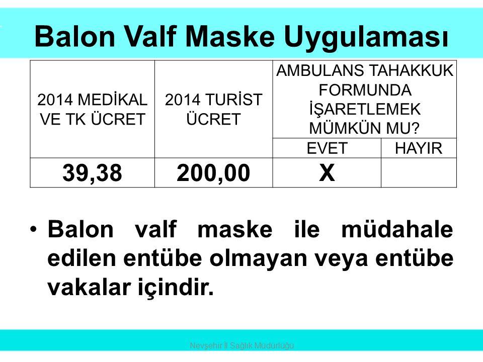 Balon Valf Maske Uygulaması
