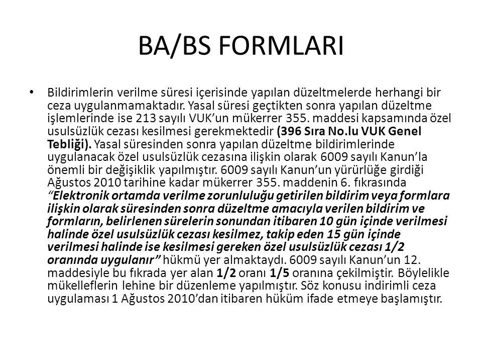 BA/BS FORMLARI