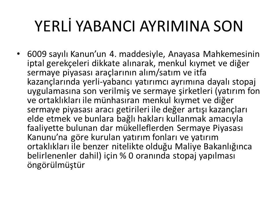 YERLİ YABANCI AYRIMINA SON
