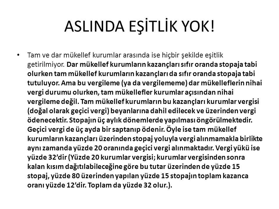 ASLINDA EŞİTLİK YOK!