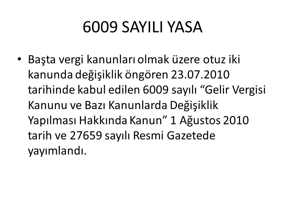 6009 SAYILI YASA