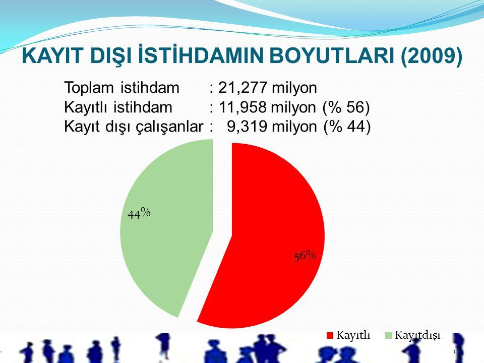 KAYIT DIŞI İSTİHDAMIN BOYUTLARI (2009)