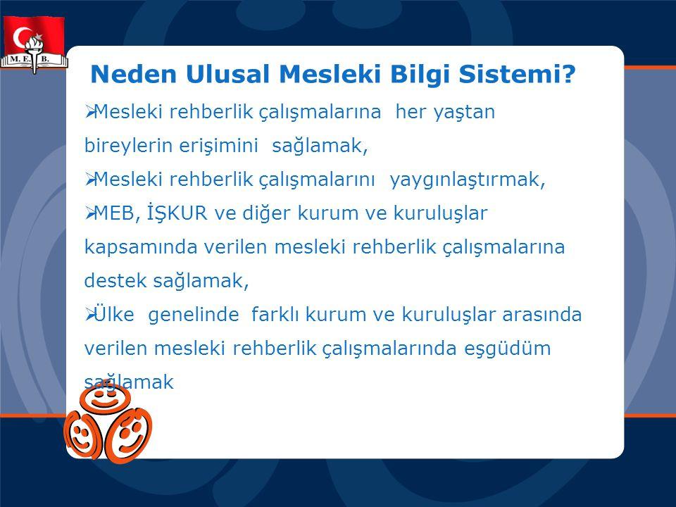Neden Ulusal Mesleki Bilgi Sistemi