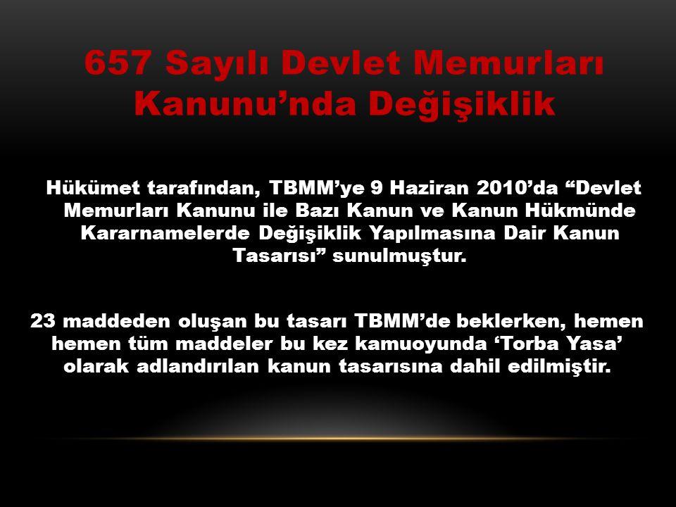 657 Sayılı Devlet Memurları Kanunu'nda Değişiklik