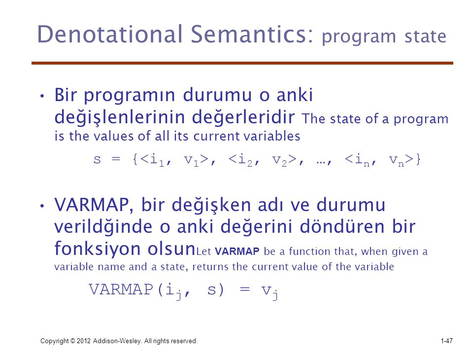 Denotational Semantics: program state