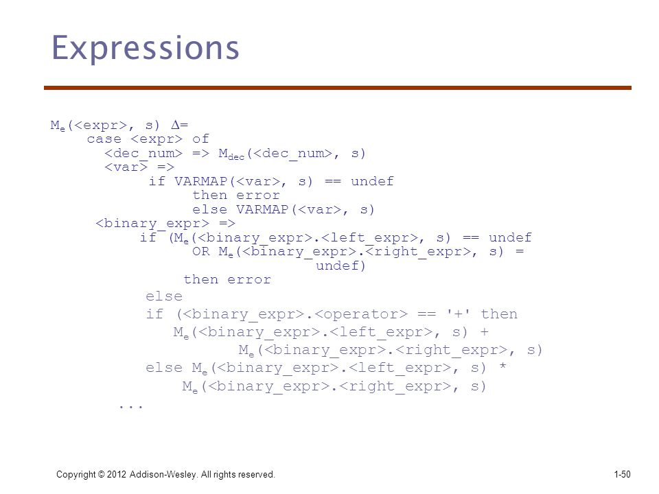Expressions else if (<binary_expr>.<operator> == + then