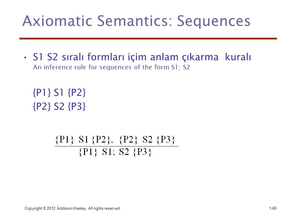Axiomatic Semantics: Sequences