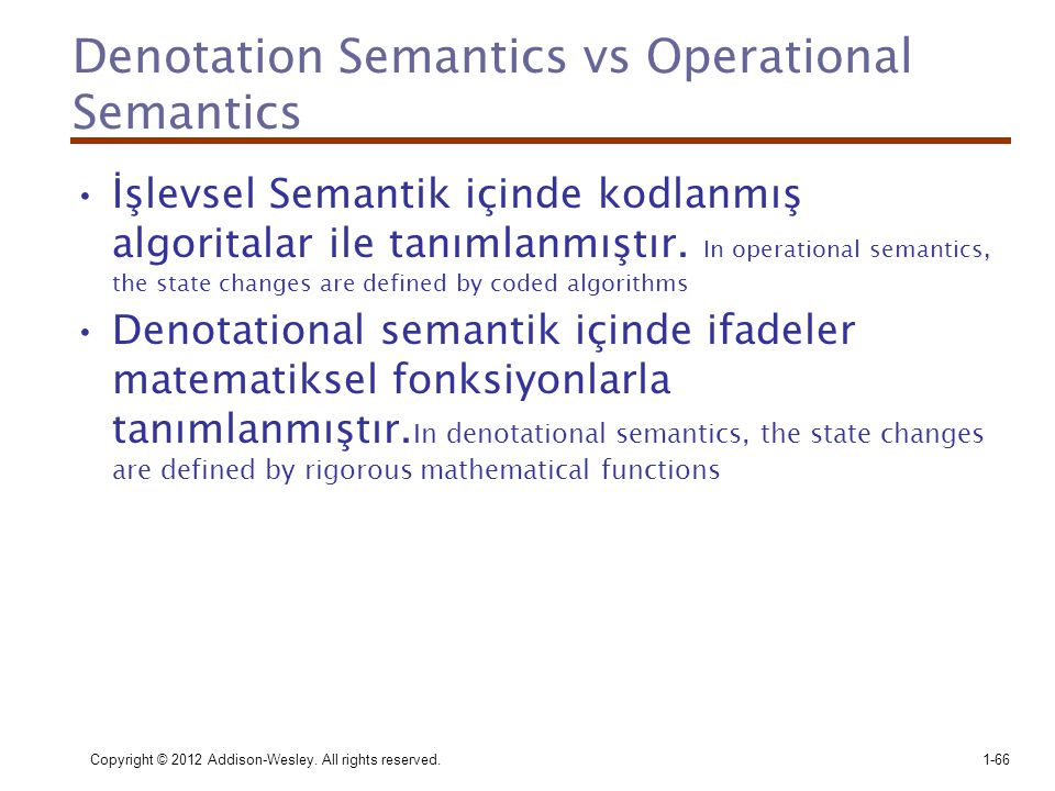 Denotation Semantics vs Operational Semantics