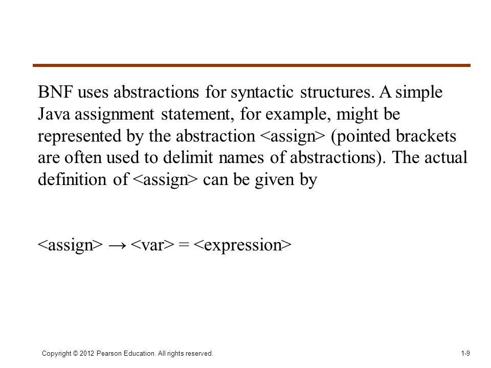 <assign> → <var> = <expression>