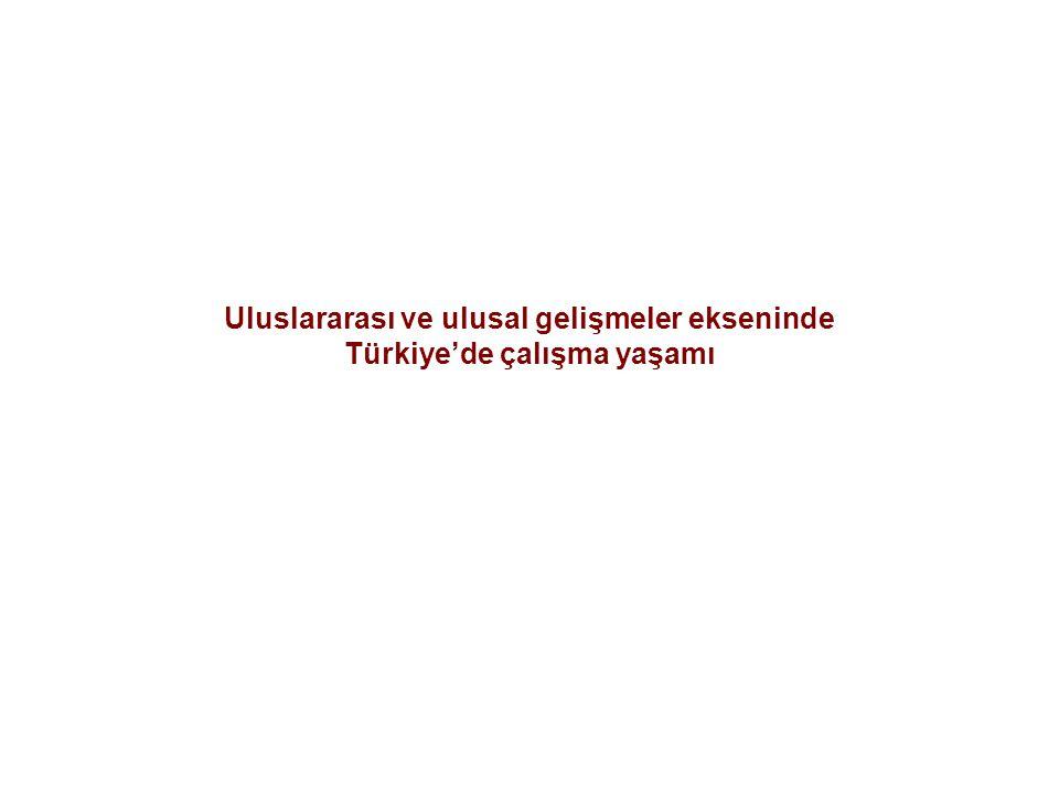 Uluslararası ve ulusal gelişmeler ekseninde Türkiye'de çalışma yaşamı
