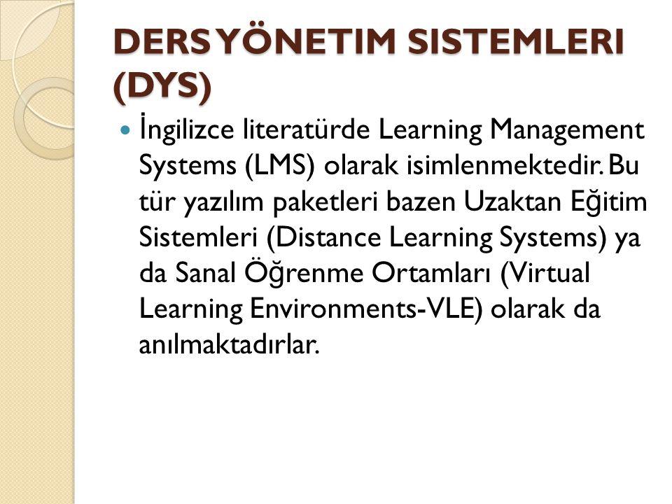 Ders Yönetim Sistemleri (DYS)