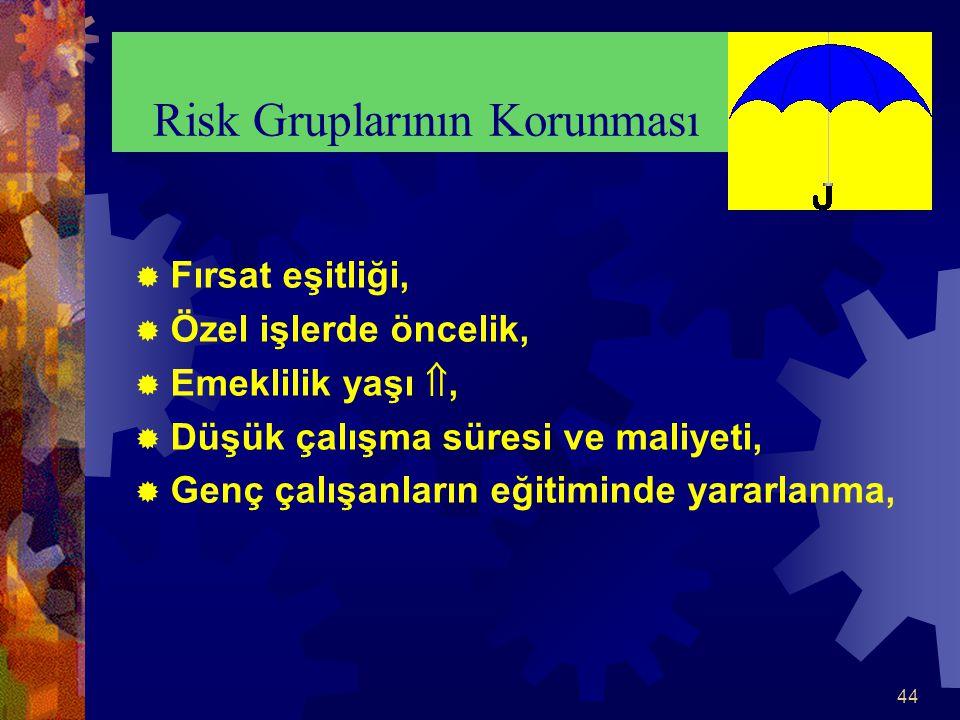 Risk Gruplarının Korunması