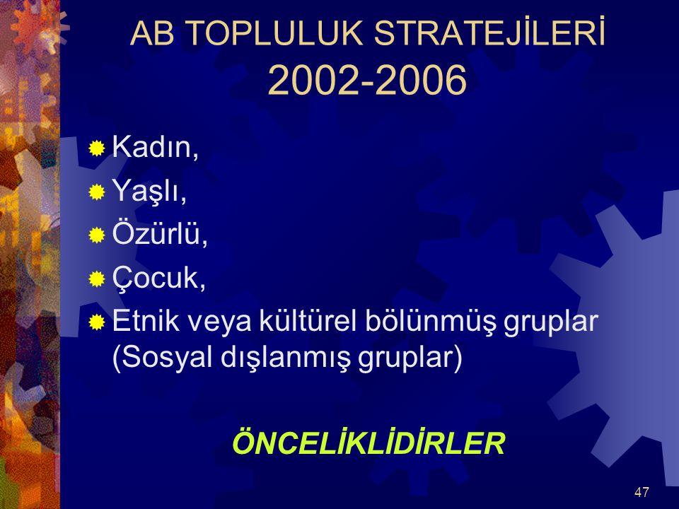 AB TOPLULUK STRATEJİLERİ 2002-2006