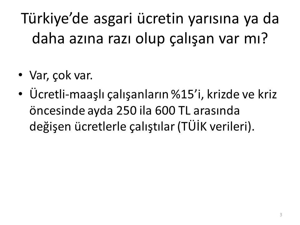 Türkiye'de asgari ücretin yarısına ya da daha azına razı olup çalışan var mı