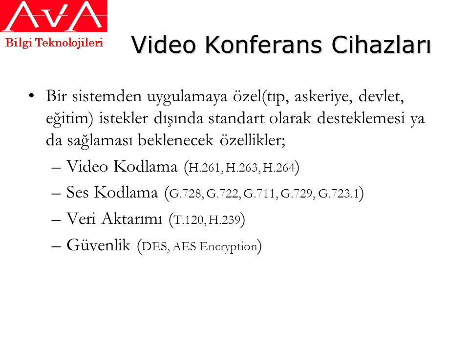 Video Konferans Cihazları
