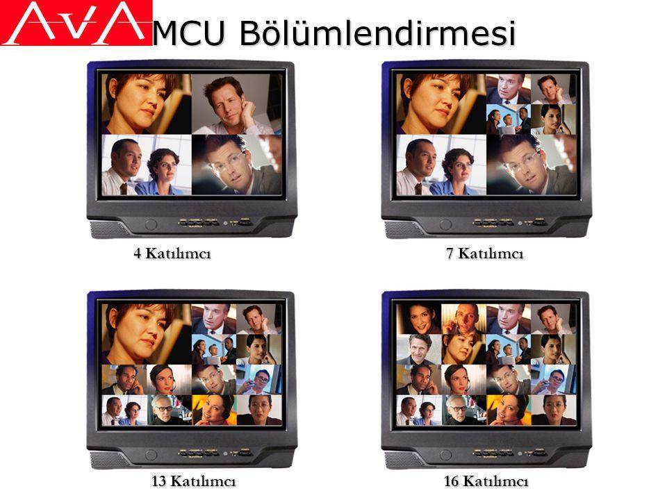 MCU Bölümlendirmesi 4 Katılımcı 7 Katılımcı 13 Katılımcı 16 Katılımcı