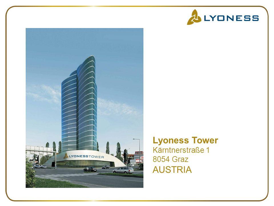 Lyoness Tower Kärntnerstraße 1 8054 Graz AUSTRIA