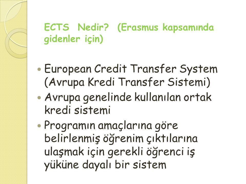 European Credit Transfer System (Avrupa Kredi Transfer Sistemi)