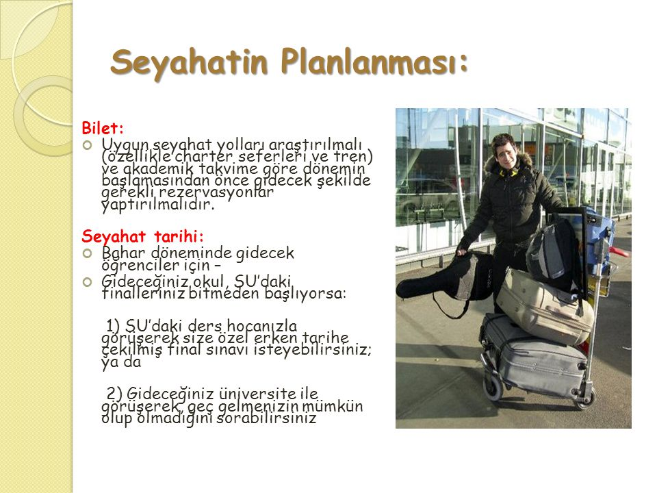 Seyahatin Planlanması: