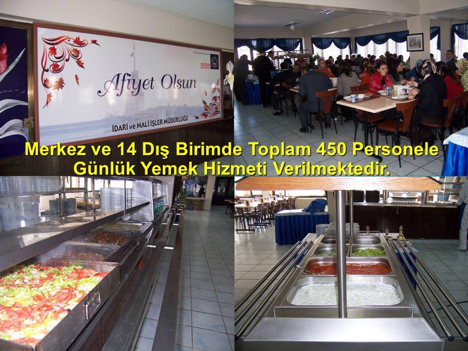 Merkez ve 14 Dış Birimde Toplam 450 Personele Günlük Yemek Hizmeti Verilmektedir.