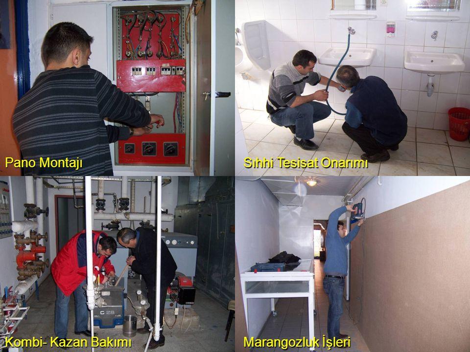Pano Montajı Sıhhi Tesisat Onarımı Kombi- Kazan Bakımı Marangozluk İşleri