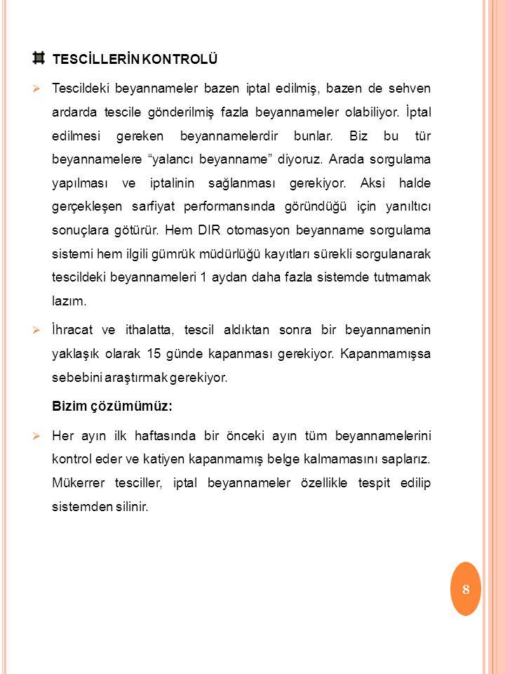 TESCİLLERİN KONTROLÜ