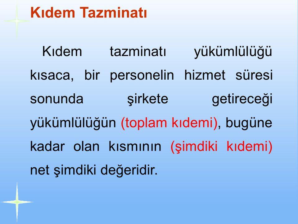 Kıdem Tazminatı