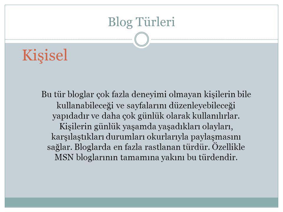 Blog Türleri Kişisel.