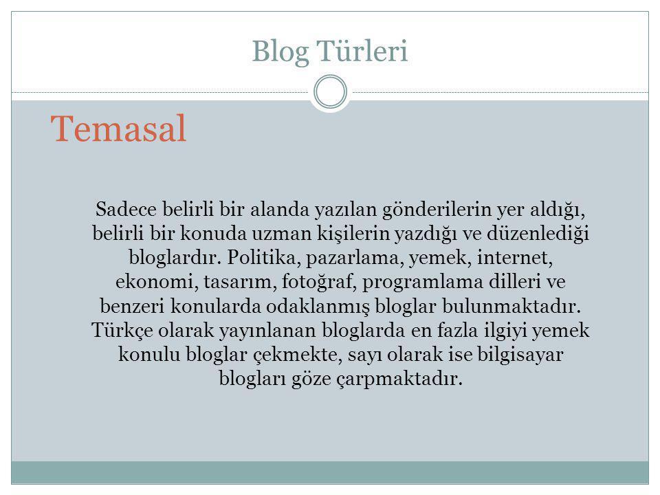 Blog Türleri Temasal.