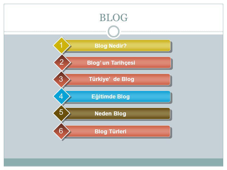 BLOG 1 2 3 4 5 6 Blog Nedir Blog' un Tarihçesi Türkiye' de Blog