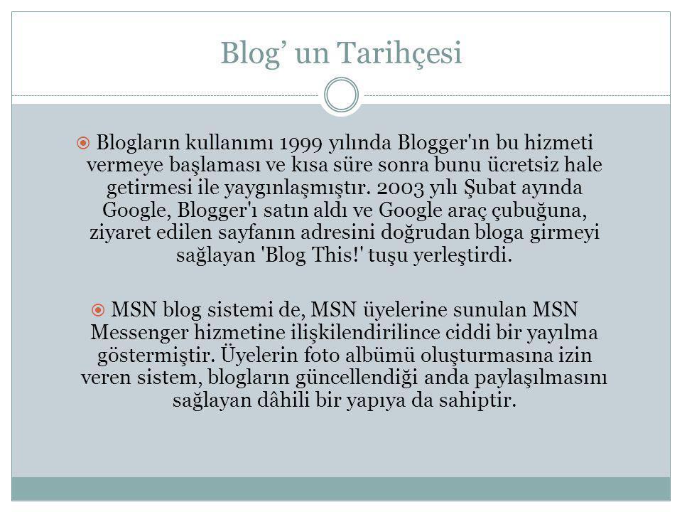 Blog' un Tarihçesi