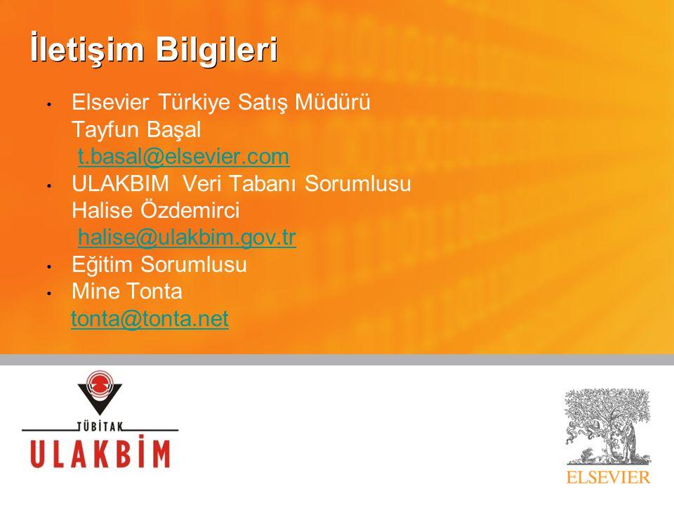 İletişim Bilgileri Elsevier Türkiye Satış Müdürü Tayfun Başal