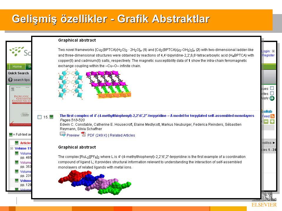 Gelişmiş özellikler - Grafik Abstraktlar