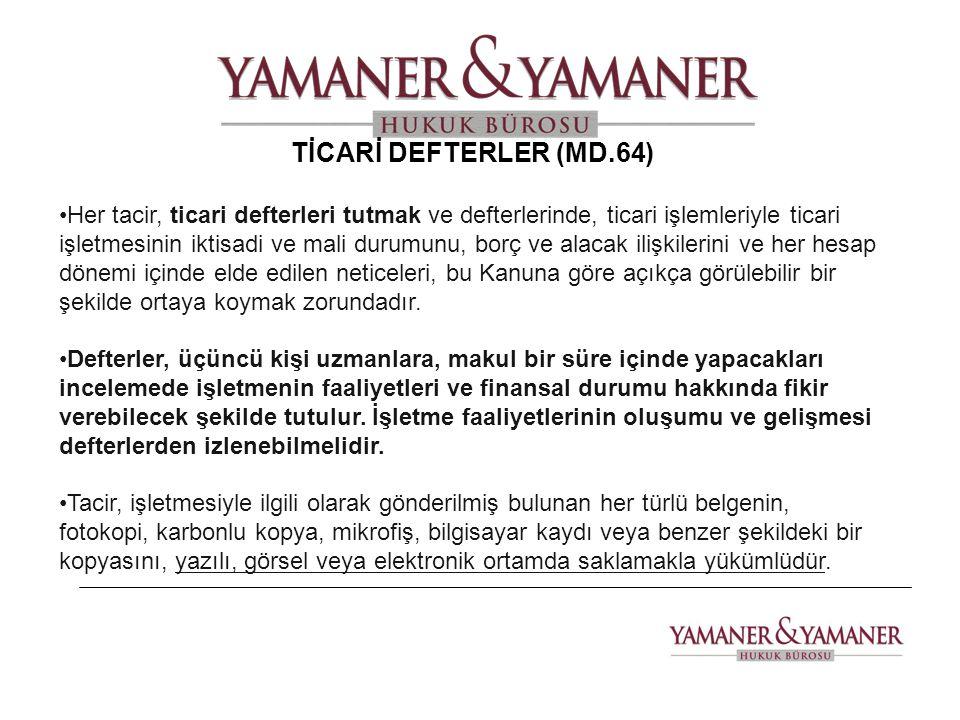 TİCARİ DEFTERLER (MD.64)