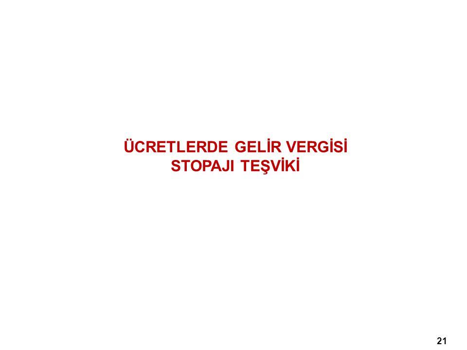 ÜCRETLERDE GELİR VERGİSİ