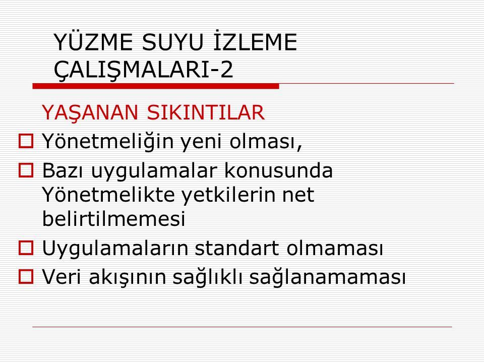 YÜZME SUYU İZLEME ÇALIŞMALARI-2