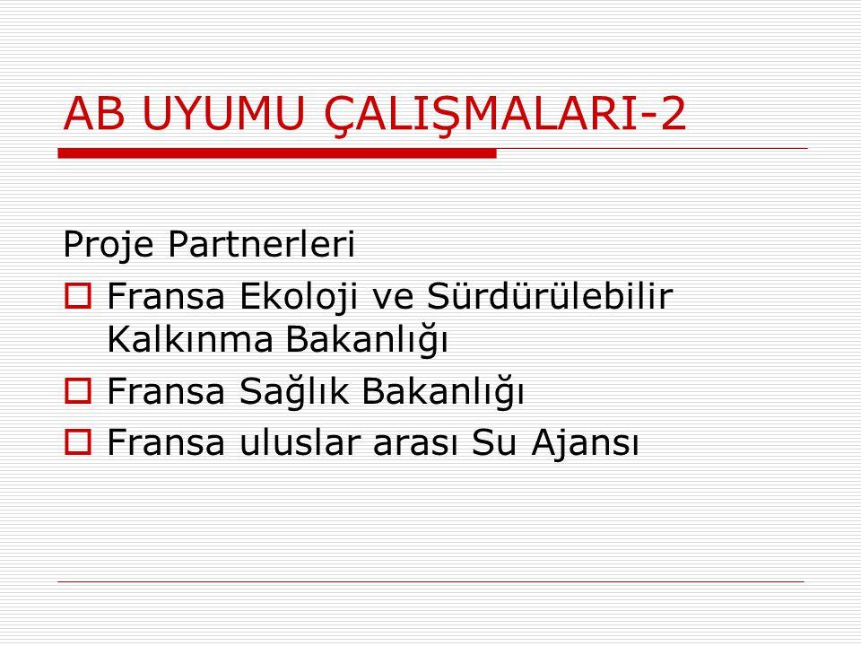 AB UYUMU ÇALIŞMALARI-2 Proje Partnerleri